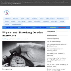 Why can not I Make Long Duration Intercourse - Clinkcareer