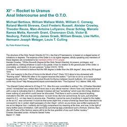 XI°: Anal Intercourse and the Ordo Templi Orientis — Rocket to Uranus – Per Aftera Ad Astra