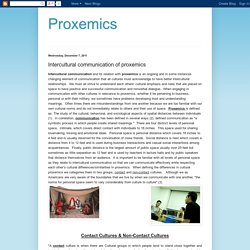 Proxemics: Intercultural communication of proxemics