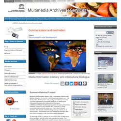 Communication and development - UNESCO Multimedia Archives