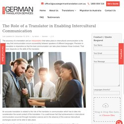 The Role of a Translator in Enabling Intercultural Communication