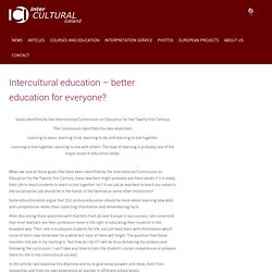 Intercultural education – better education for everyone?