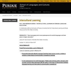 Intercultural Learning // Purdue College of Liberal Arts