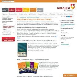 Intercultural Resources for Educators/Trainers - NorQuest College