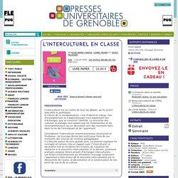 PUG : L'Interculturel en classe - - De Rose-Marie Chaves, Lionel Favier et Soizic Pélissier (EAN13 : 9782706116971)