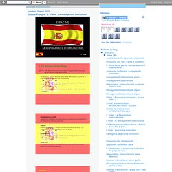 Dossier Espagne - 2° Partie : Le Management Interculturel