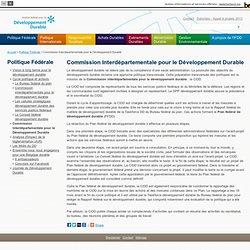 Home - Service public fédéral de programmation Développement durable