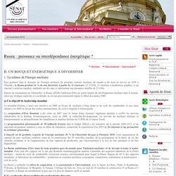 Russie : puissance ou interdépendance énergétique ?