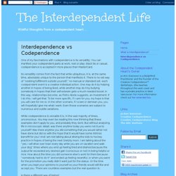 Interdependence vs Codependence