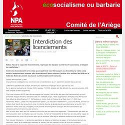 25 oct. 2020 Interdiction des licenciements