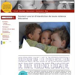 Soutenir une loi d'interdiction de toute violence éducative Grandir Autrement