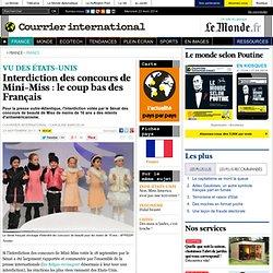 Interdiction des concours de Mini-Miss : le coup bas des Français