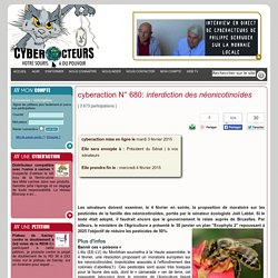 cyberaction interdiction des néonicotinoïdes