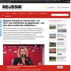 Barbara Pompili sur France Inter : en 2021 une interdiction du glyphosate « sur plus de la moitié des utilisations »
