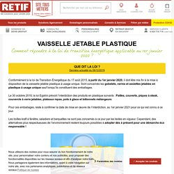Interdiction vaisselle jetable plastique, loi 2020 sur la ...