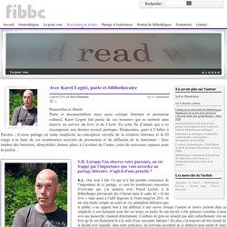 Avec Karel Logist, poète et bibliothécaire - Site interactif de la Fédération Interdiocésaine des Bibliothécaires Catholiques FIBBC