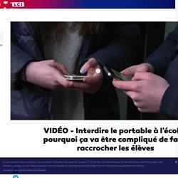 VIDÉO - Interdire le portable à l'école : pourquoi ça va être compliqué de faire raccrocher les élèves