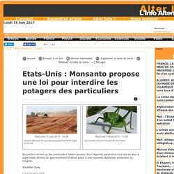 Etats-Unis : Monsanto propose une loi pour interdire les potagers des particuliers