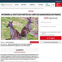 Interdire la vente des parties du corps de kangourous en France