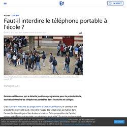 Faut-il interdire le téléphone portable à l'école ?