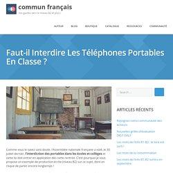 Interdire les téléphones portables en classe ? Sujet d'écrit pour le DELF B2