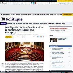Des députés UMP veulent interdire le minimum vieillesse aux étrangers