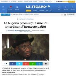 Le Nigeria promulgue une loi interdisant l'homosexualité