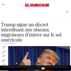 Trump signe un décret interdisant aux oiseaux migrateurs d'entrer sur le sol américain