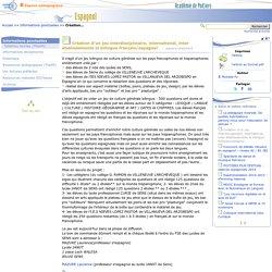Création d'un jeu interdisciplinaire, international, inter établissements et bilingue français/espagnol- Espagnol