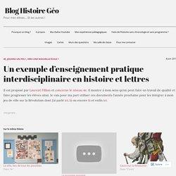 Un exemple d'enseignement pratique interdisciplinaire en histoire et lettres