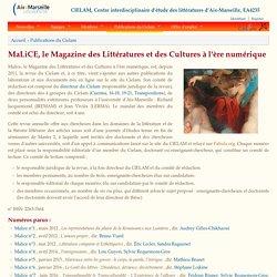 CIELAM, Centre interdisciplinaire d'étude des littératures d'Aix-Marseille, EA4235