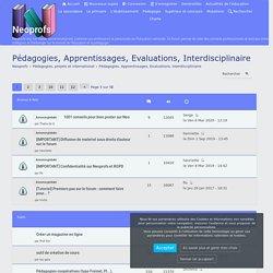 Pédagogies, Apprentissages, Evaluations, Interdisciplinaire