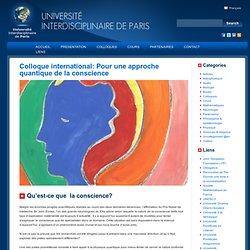 Colloque international: Pour une approche quantique de la conscience
