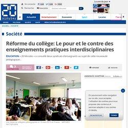 Réforme du collège: Le pour et le contre des enseignements pratiques interdisciplinaires