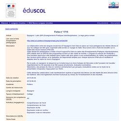 EDU'bases langues vivantes - Espagnol / Latin (EPI) Enseignements Pratiques Interdisciplinaires : Le legs gréco-romain