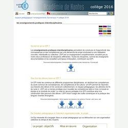 collège 2016 - les enseignements pratiques interdisciplinaires