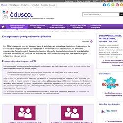 Enseignements pratiques interdisciplinaires