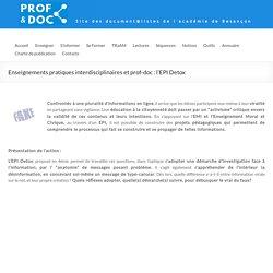 EPI Detox en 4e – DocTICE