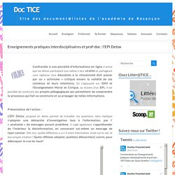 Enseignements pratiques interdisciplinaires et prof-doc : l'EPI Detox – DocTICE