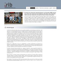 Institut de Recherches interdisciplinaires sur Bruxelles / Presentation