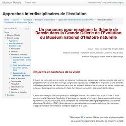 Approches interdisciplinaires Evolution (AIE): Comprendre la démarche de Darwin