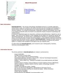 Interdisciplinaria - About this journal