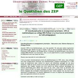 Interdisciplinarité et enseignement prioritaire : EPS et mathématiques au(...)