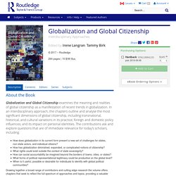 Globalization and Global Citizenship: Interdisciplinary Approaches (Hardback)