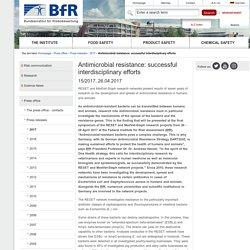 BFR_DE 26/04/17 Antimicrobial resistance: successful interdisciplinary efforts