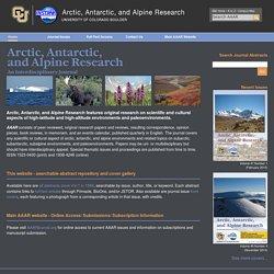Arctic, Antarctic, and Alpine Research: An Interdisciplinary Journal
