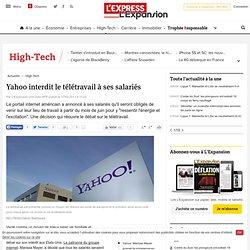 Yahoo interdit le télétravail à ses salariés