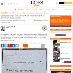"""Une rue interdite """"aux Arabes et aux Noirs"""" à Niort ? J'ai déposé une main courante"""
