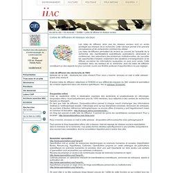 Institut interdsiplinaire d'anthropologie du contemporain - Listes de diffusion et réseaux sociaux