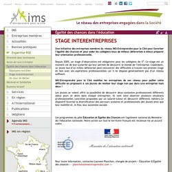 STAGE INTERENTREPRISES